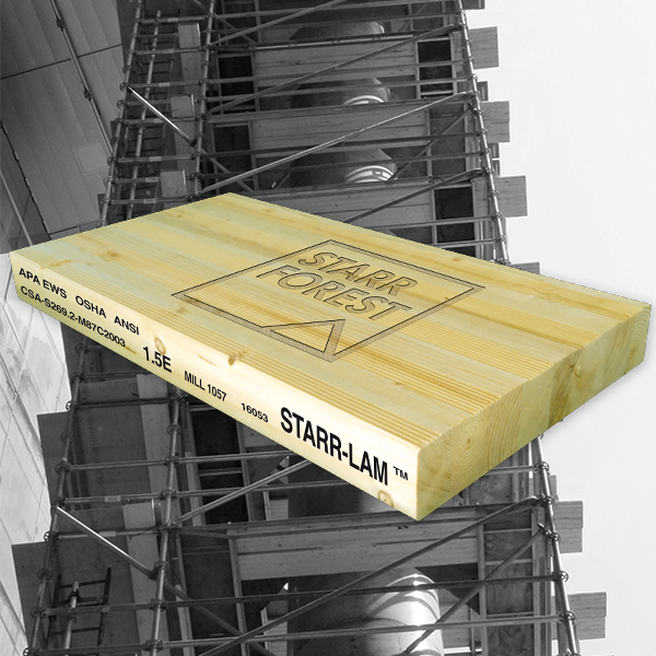 Plan ahead your season with STARR-LAM scaffold planks